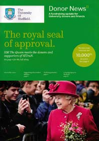 Queen photo makes front cover of Donor News