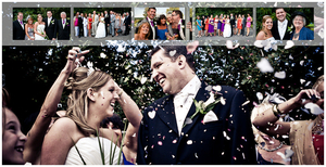 wedding photography album at clumber park nottinghamshire