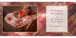 Hindu wedding photography album captured at Sheffield Park Hotel